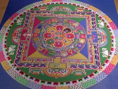The completed sand mandala