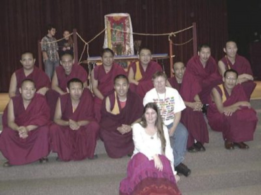 Drepung-Gomang Monks with Jackie Downey and Risha