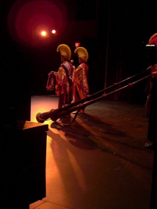 On stage at the Lyric Theatre