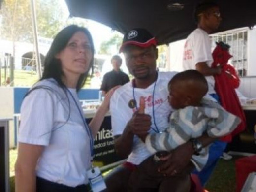 After Comrades 2011 with son Mathen and myself