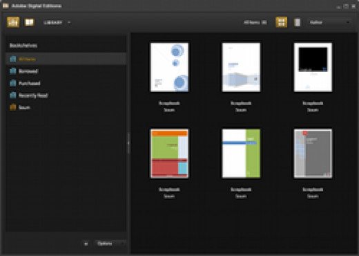 Adobe Digital Editions Screenshot