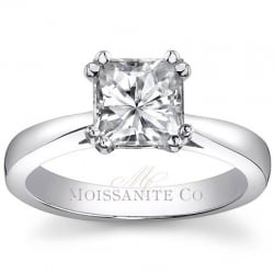 Round Moissanite 5-Stone Surprise Diamond Engagement Ring [eng817]