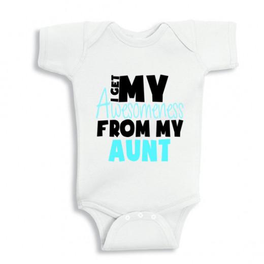 I Get My Awesomeness from my Aunt Baby Boy bodysuit