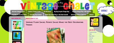 Networking 101: Blogs like VintageChalet will Blog Your Vintage Items for Free