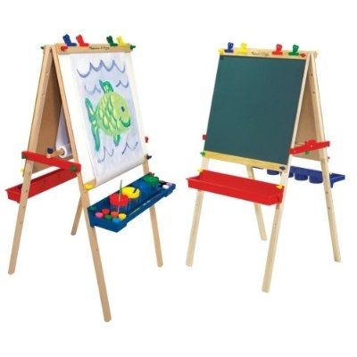 Both Sides of Melissa & Doug Deluxe Standing Easel