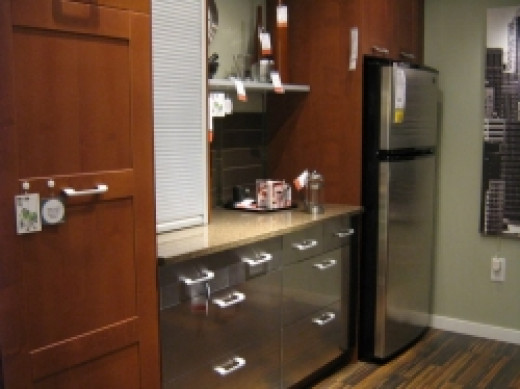 IKEA kitchen cabinets with stainless steel deep drawers
