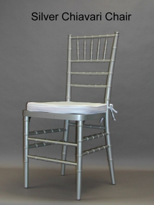 Silver Chiavari chair.