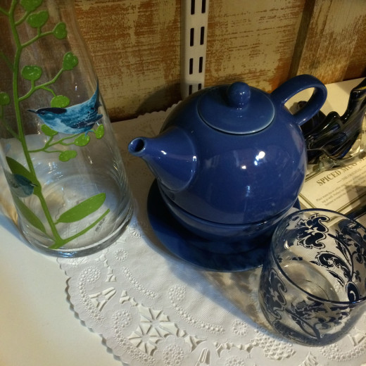 Blue Tea Cup, Blue Bird, Blue Votive