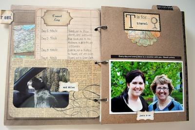 Detailed Travel Scrapbook