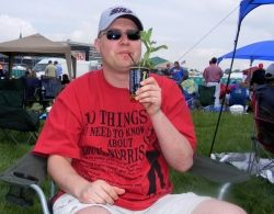 Myself drinking a Mint Julep