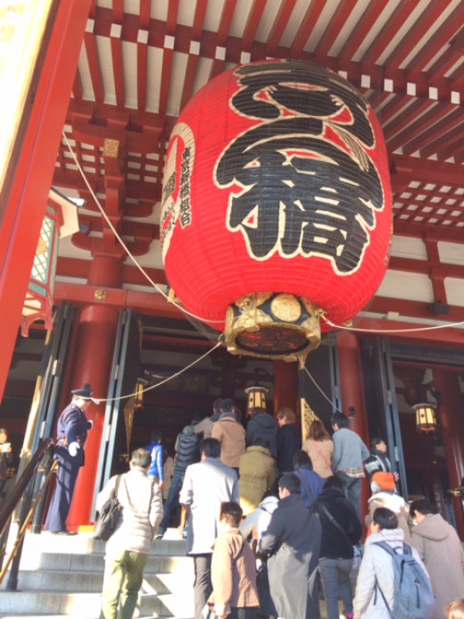 The temple was completed in the year 645, making it the oldest temple in Tokyo.