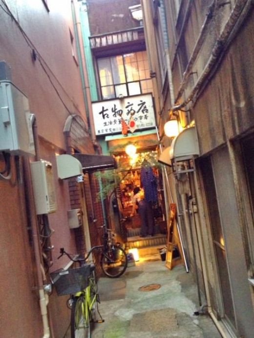It's an antique store tucked away and hidden deep within the labyrinths of Asakusa.