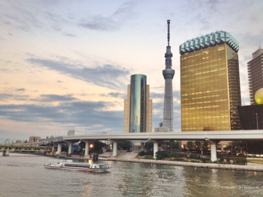 Don't forget to check out Sumida River right next to the temple. The futuristic buildings on the other side makes a dramatic contrast.