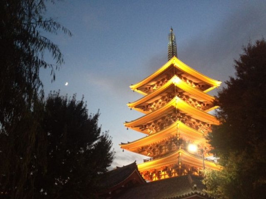 The pagoda stands tall over the entire place.