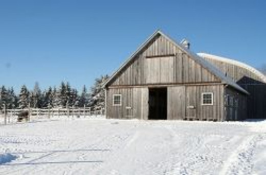 A Good Sized 7 Stall Barn Backing Onto an Indoor Arena