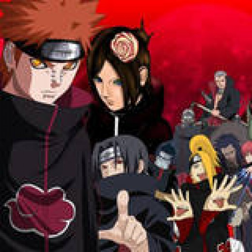 Pain, Sasori, Tobi, Konan, Zetsu, Itachi, Kisame, Hidan, Kakuzu, Deidara