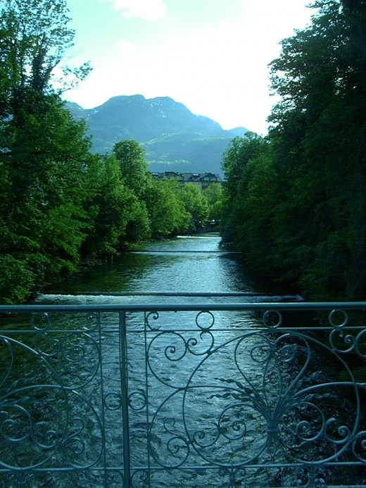 River outside Bad Ischl in Salzkammergut
