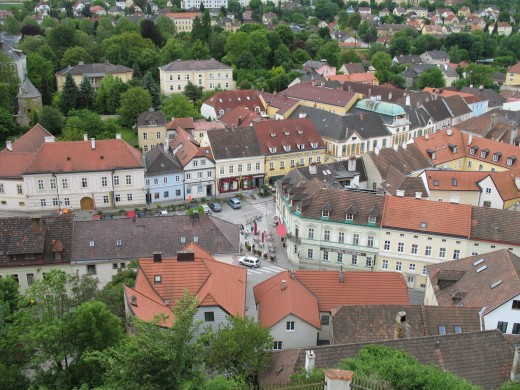Melk as seen from the Abbey