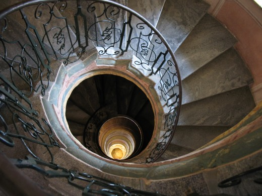 Spiral staircase in Melk Abbey
