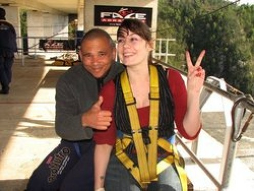 Kerri, brave enough to bungy jump, brave enough to run the half marathon on the Great Wall of China to raise money to build a kindergarten classroom. http://www.backabuddy.co.za/china