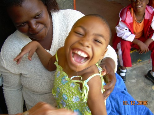 A little girl with serious disabilities, now getting an education due to my Mom