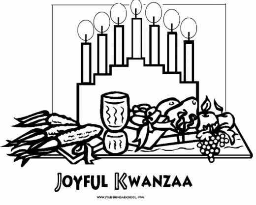 Quanza coloring pages ~ Kwanzaa Flag Page Coloring Pages