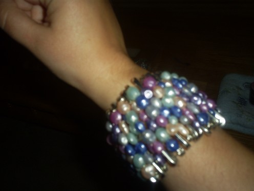 The bracelet is now ready to wear.