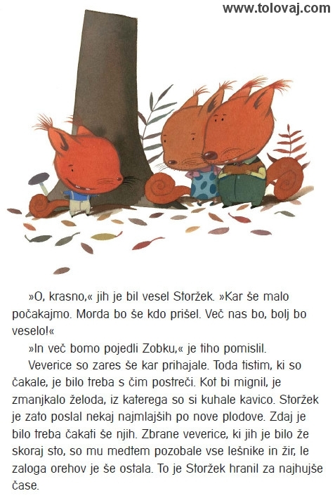 Picture book: A Squirrel Party - link goes to English translation of the story