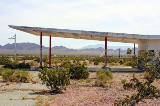 Abandoned gas stations on Route 66
