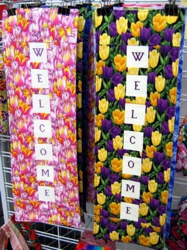 Quilted Welcome Signs.