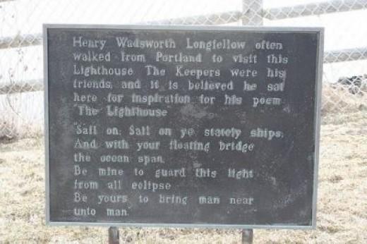 Henry Wadsworth Longfellow Plaque