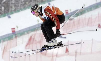 Julia Murray  of Whistler, B.C. -The daredevil is in her genes, and ski cross - in which four racers battle over jumps, rollers, and turns - appeals to Murray.