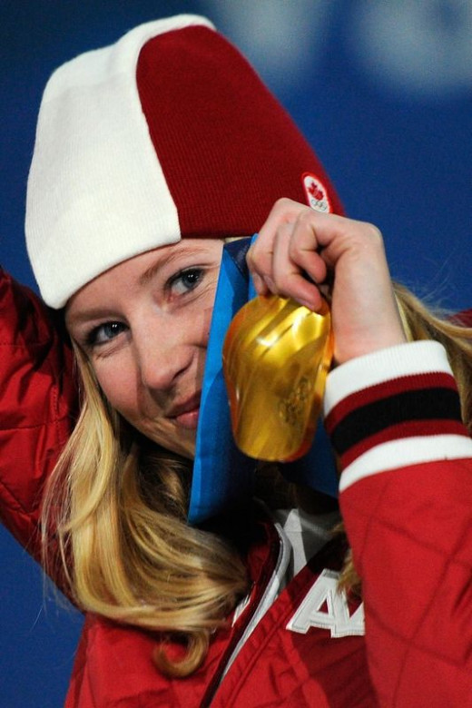Ashleigh McIvor is proud of her Gold medal.