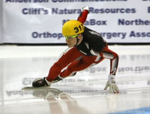 Canada's Francois-Louis Tremblay won Bronze in Men's 500 short-track speed skating.