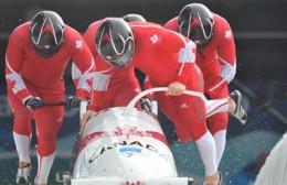 4-man Bobsleigh Team - Pilot Lyndon rush, Chris LeBihan, David Bisset, Lascellis Brown won Bronze