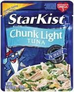 tuna, healthy snack, tuna packed in water, foil packet tuna, lunch, lunch on the go
