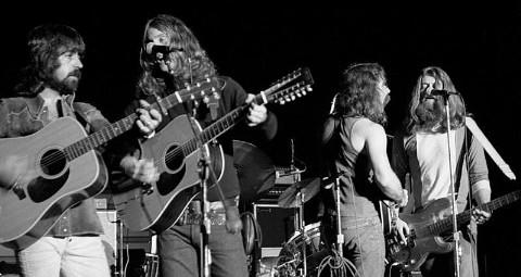 Folk-Rock group, The Byrds in concert