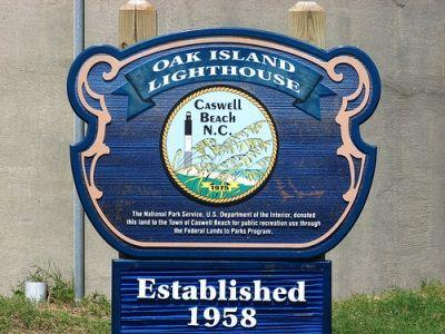 Oak Island Lighthouse Sign