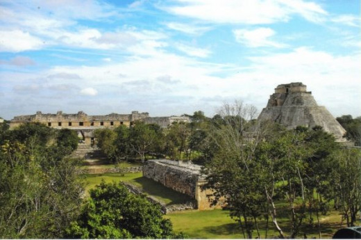 Overlooking Uxmal from the Temple of the Turtles
