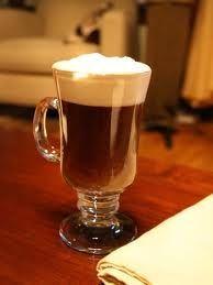 irish coffee, grasshopper, coffee