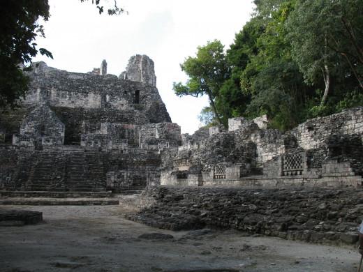 Ancient ruins at Becán