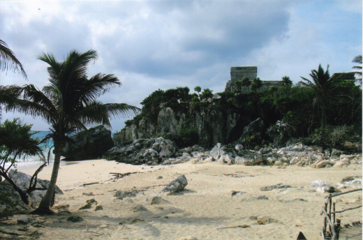 Tulum from the beach