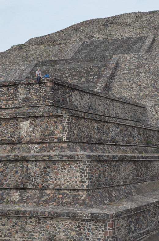 Alesia hanging out on the pyramid of the moon. 2014