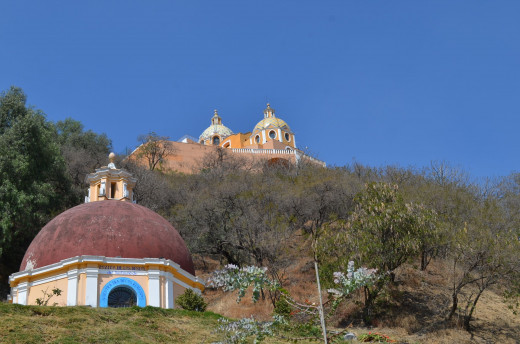 The church above the pyramid of Cholula
