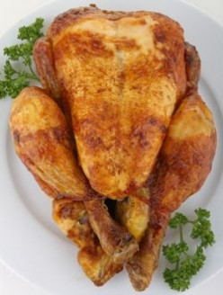 Roast Chicken with Banana Stuffing
