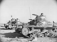 Italkisn tanks with Australian markings