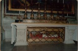 Grave of a pope inside Vatican