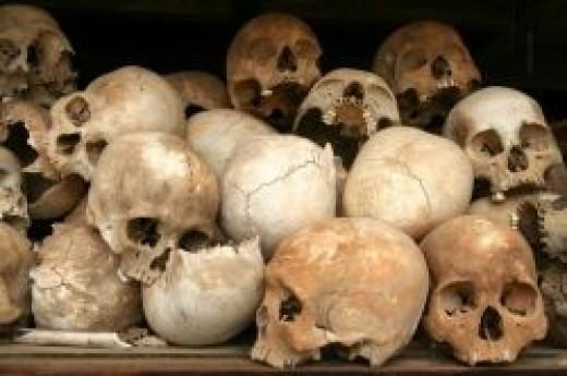 Killing field skulls