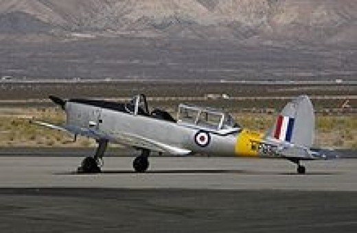 Ex-RAF Chipmunk operated by the National Test Pilot School as a spin trainer at the Mojave Airport