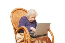 old lady typist